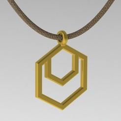 Télécharger fichier STL Pendentif géométrique en forme d'hexagone, ShineNow
