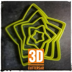 20200816_155135-01.jpeg Télécharger fichier STL ENSEMBLE D'ÉTOILES COURBES - EMPORTE-PIÈCE • Design à imprimer en 3D, 3DCuttersAr