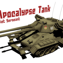 Descargar archivo 3D Apocalipsis del tanque de alerta roja, cop2142