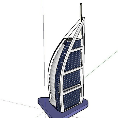 Download free 3D printing templates Burj al Arab, Qelorliss