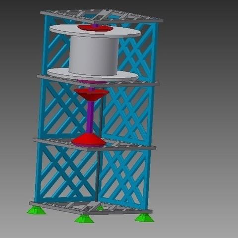 assembly_standing_jpg_display_large.jpg Télécharger fichier STL gratuit Porte-bobine à filament modulaire • Plan à imprimer en 3D, Qelorliss