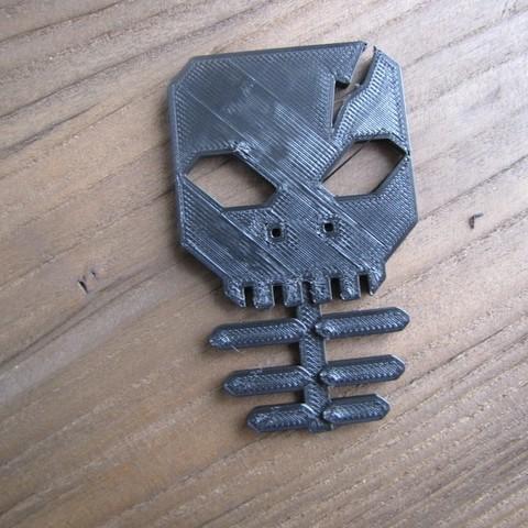 IMG_1198_display_large.JPG Télécharger fichier STL gratuit Porte-bouton d'oreille squelette • Modèle pour imprimante 3D, Qelorliss