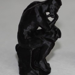Download free 3D printing templates The Thinker, Qelorliss