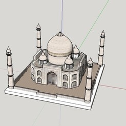 Download free 3D printer files Taj Mahal, Qelorliss