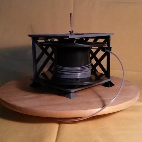 20150906_192412_display_large.jpg Télécharger fichier STL gratuit Porte-bobine à filament modulaire • Plan à imprimer en 3D, Qelorliss