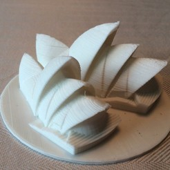 Free 3D printer designs Sydney Opera House, Qelorliss