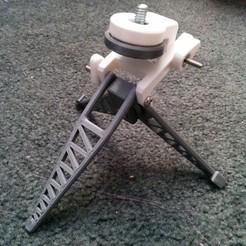 Free STL Collapsible Mini Tripod, Kajdalon