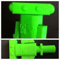 Télécharger plan imprimante 3D gatuit Topper crayon robot, Kajdalon