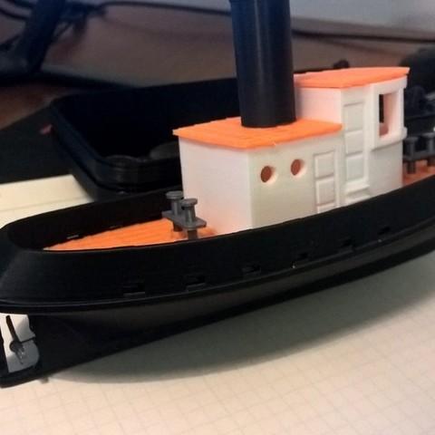 WP_20150707_21_51_40_Pro_display_large.jpg Download free STL file Barge with Tugboat • 3D print object, Kajdalon