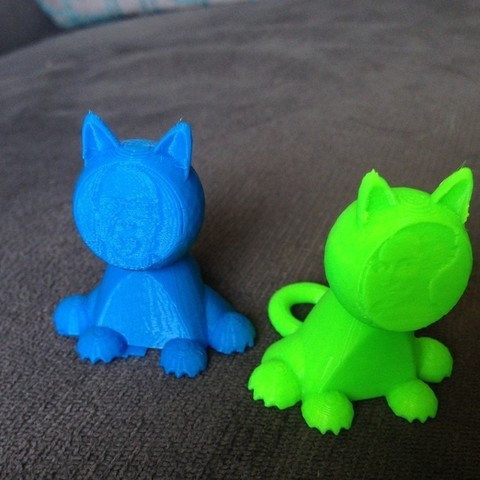 Download free 3D printing files Cat with a picture face, Kajdalon