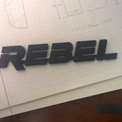 "Descargar archivos STL gratis Logotipo ""REBEL"" inspirado en Star Wars., Kajdalon"