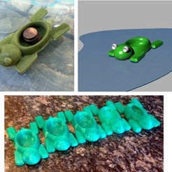 Download free STL file Turtle boat • Template to 3D print, Kajdalon