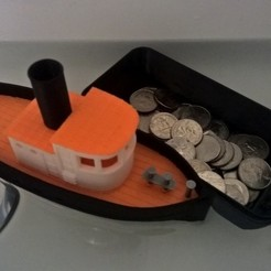 Download free 3D printer designs Barge with Tugboat, Kajdalon