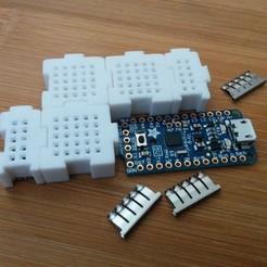 Free 3D printer files Breadboard Bits - Modularize your breadboard., Kajdalon
