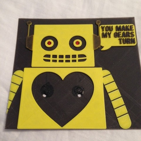 Download free 3D printer designs Re-mixed 3d Printed valentine with a text block, Kajdalon