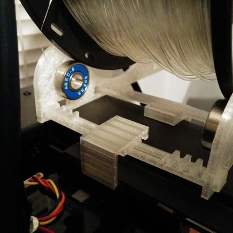 IMG_20150109_171539_display_large.jpg Télécharger fichier STL gratuit Support de bobine de filament ajustable / extensible - Ajouts à Flashforge Creator Pro • Modèle à imprimer en 3D, Kajdalon