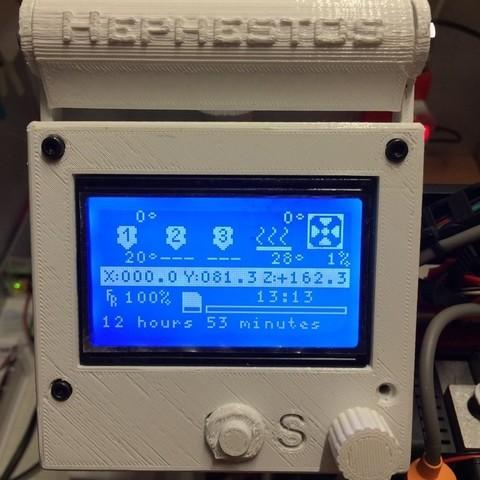 Télécharger STL gratuit Contrôleur LCD graphique intelligent - Prusa i3 Hephestos - Support, Rusichar