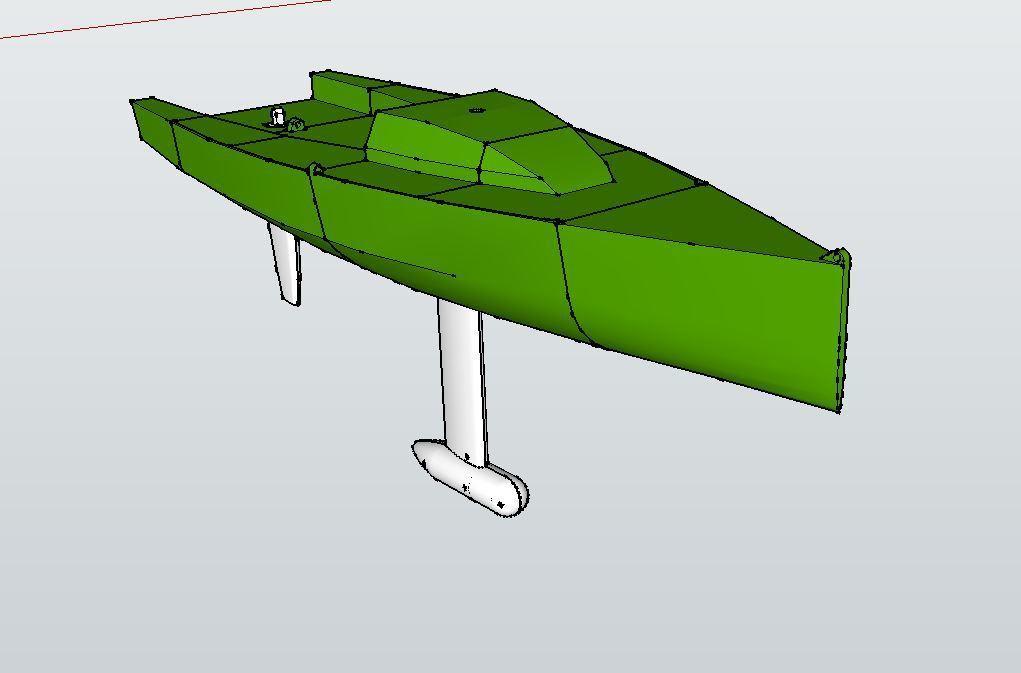 Hull_mk2_display_large.JPG Télécharger fichier STL gratuit Voilier à voile • Objet pour impression 3D, Rusichar