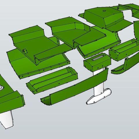 Hull_Exploded_display_large.JPG Télécharger fichier STL gratuit Voilier à voile • Objet pour impression 3D, Rusichar