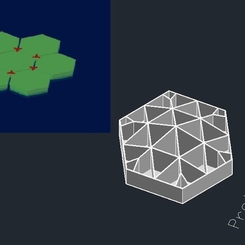honeychamberrose_display_large.jpg Télécharger fichier STL gratuit Nid d'abeille et de canneberge • Modèle pour impression 3D, Rusichar