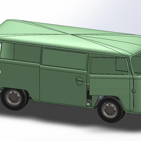 vw1_display_large.jpg Télécharger fichier STL gratuit VW Kleinbus T2 • Modèle pour impression 3D, Rusichar