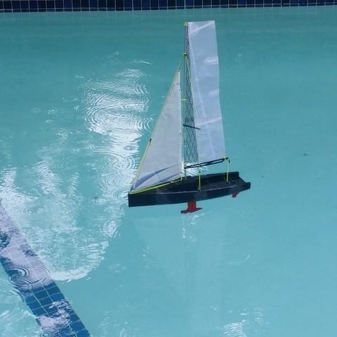 Free 3D printer designs Sailboat, Rusichar