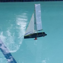 Free 3D printer designs Sailboat, Rusichar