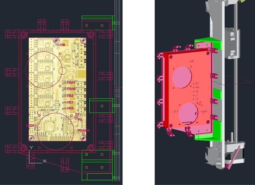 rumba_hephestos_display_large.jpg Télécharger fichier STL gratuit Etui à Rumba pour Prusa i3 Hephestos • Modèle pour imprimante 3D, Rusichar