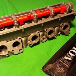Download free 3D model Volvo Redblock Cylinder Head, Rusichar