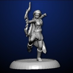 female archer.jpg Download STL file Archer • 3D printing object, MadcapMiniatures