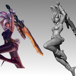 Download free 3D model Battle Bunny Riven, MadcapMiniatures