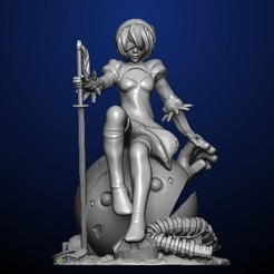 Download free STL file Nier Automata • 3D printable object, MadcapMiniatures