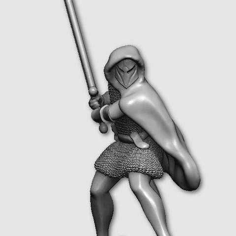 Free 3D print files Swordsman, MadcapMiniatures