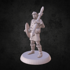 screenshot007.png Download free STL file Spearman • 3D printable model, MadcapMiniatures