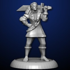 STL files Stoic Warrior, MadcapMiniatures