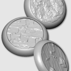 Download free 3D printing designs Bases for Miniatures Set of 4, MadcapMiniatures