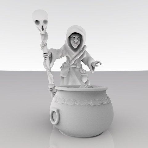 Descargar modelos 3D gratis Elaboración de la cerveza de la bruja, MadcapMiniatures