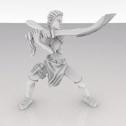 Free 3D printer model Morgianna the Bladedancer, MadcapMiniatures
