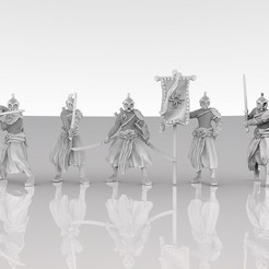 3D print files Elven Warrior Squad, MadcapMiniatures