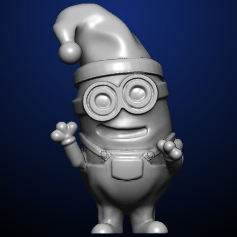 christmas minion.jpg Download free STL file Christmas Minion • 3D printing template, MadcapMiniatures