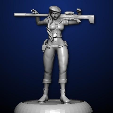 Diseños 3D Francotirador en pose casual, MadcapMiniatures