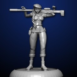 female sniper.jpg Download STL file Sniper in casual pose • 3D printable design, MadcapMiniatures