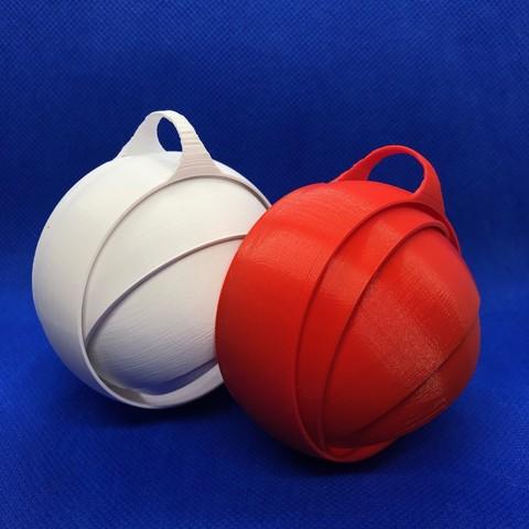 Download free 3D printer templates Orbital Christmas Ornament, infocus