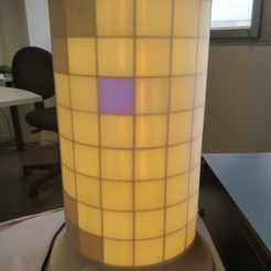 Download free 3D printing templates The Animated Pixel Lamp, nkervazo
