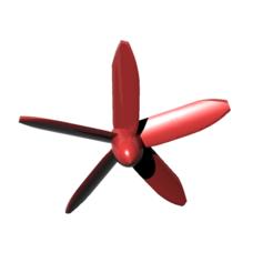 Download free 3D printer model helice 5 blades - propeller 5 blades, nielerwan