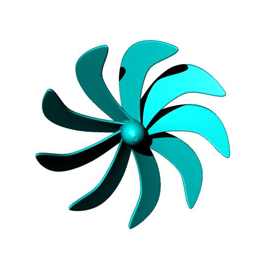 Download free 3D printing files 9-blade underwater propeller - prop submarine, nielerwan