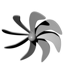 helice-sous-marin-type3-8-pales.PNG Download free STL file 8-blade underwater propeller - prop submarine • 3D print object, nielerwan