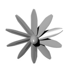 Download free 3D print files helice 10 blades - propeller 10 blades, nielerwan