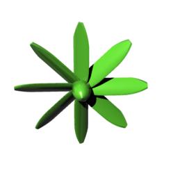 Descargar archivo 3D gratis hélice 8 palas - hélice 8 palas, nielerwan