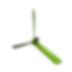 helice-avion-22mars-3-pales-3-blades.stl Télécharger fichier STL gratuit helice 3 pales - propeller 3 blades • Modèle imprimable en 3D, nielerwan